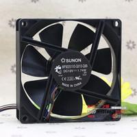 Wholesale Heat Sink Case - SUNON 9225 12V MF92251V3-Q010-Q99 92*92*25MM 12V 1.74W 4 line heat sink fan