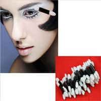 Wholesale Eyeshadow Sponge Applicators - Eyeshadow Applicator,50pcs lot Professional Sponge Double Ended Make Up Supplies,Portable Eye Shadow Brushes,Cosmetic Tools