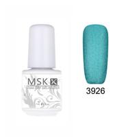 Wholesale 48 Color Uv Gel - Wholesale- MSK Gel polish 48 color matte Velvet soak off uv led gel nail polish nail art 5ml 3926