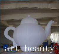 blower shop - 2 mH inflatable white teapot with blower for teapot shop sales promotion