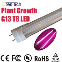 çiçek için renkli lambalar toptan satış-Ücretsiz kargo 25 adet LED Bitki Büyümek Işık T8 Sera ve Kapalı Bitki Çiçeklenme için Tüp Lamba LED Tam Spektrum Pembe Mor Renk