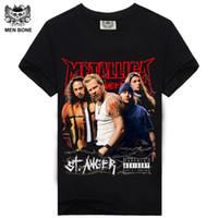 Wholesale flash funny - Wholesale- [Men bone] Sale Men's Heavy metal cultivate personality Metallica NIRVANA rock t shirts Funny Novelty hip hop rock t-shirts men