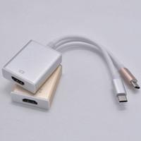 macbook orange großhandel-HD 1080P USB 3.0 Typ-C zu HDMI Kabel Adapter für New Macbook