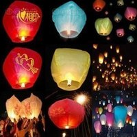Wholesale Sky Balloon Free Shipping - Wholesale free shipping 30pcs Sky Lanterns,Wishing Lantern fire balloon Chinese Kongming lantern Wishing Lamp for M506