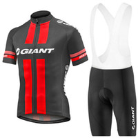 Wholesale Class Clothes Men - Cycling Jerseys Set Ropa Ciclismo 2017 Giant Men Bicycle Clothing Short Sleeve Summer Top Class Lycra Padded White Bib Shorts XS-4XL