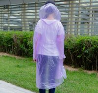 Wholesale Clear Pvc Fashion Coat - disposable plastic rain coats, Fashion clear lightweight yellow pvc rainco,emergency waterproof ponchos Rainwear Travel Rain Coat Rain Wear