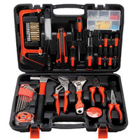 Wholesale Hardware Tool Kit - Hardware Tools Household Toolkit Bag Hardware Tools Kit Combined Manual Operated For Electricians Toolkit Portable Toolbox Home Tool Kit
