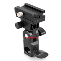 Wholesale Track Light Stand - Wholesale-Hot sale Flash Stand Bracket B for camera Flash Shoe Swivel Light Umbrella Holder Free Shipping +Tracking number
