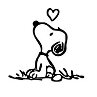 Wholesale Graphics For Sale - Hot Sale For Peanuts Snoopy Love Vinyl Funny Car Styling Sticker Decal Jdm Car Window Accessories Graphics Decor