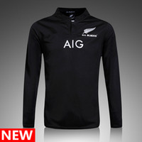 Wholesale Ruby Flash - 2017 New Zealand Ruby Jersey for adult 2016 men's Home Black Shirts All top thailand quality Rugby Jerseys S-2XL AAA