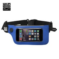Wholesale nice travel bags - Wholesale- BMAI Man&Woman Touch Screen Running Waist Bag Unisex Multi Function Nice Fitting Belt Travel Walking Bag #PRPA004
