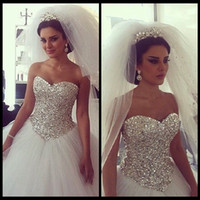 UK wedding dress sweetheart beading real - Real Photo High Quality Sexy Wedding Dresses Ball Gowns Sweetheart Court Train Vestido De Noiva Princesa Bridal Gowns 2017