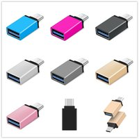 Wholesale usb c adaptor - Metal Alloy USB 3.1 Type C OTG Adapter Male to USB 3.0 A Female Converter otg adaptor for samsung android phone
