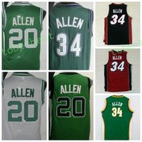 Wholesale Film Blue - Hot Retro 20 Ray Allen Uniforms 34 Jesus Shuttleswort Jersey 1998 Film lincoln School Shirt Rev 30 Red White Green Black Yellow Purple