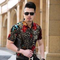 Wholesale Turndown Collar Dress Shirt - Wholesale- KUYOMENS Men shirt Short Sleeve Mens Dress Shirt Turndown Collar Camisa Men's shirts casual Slim Fit Masculina Chemise Homme