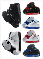Wholesale Free Sporting Goods - 2018 best 18 man basketball Shoes Blue Black Red A sport sneaker shoes Sports Shoes good 18s Replicas Athletics Boots Free shipping