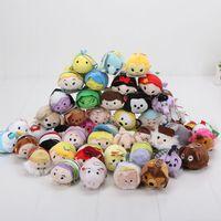 prenses minis bebekleri toptan satış-Perakende 7-9 cm Mini Güzel oyuncak Hayvan prenses peluş anahtarlık kolye Bebek Bebek oyuncakları