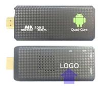 Wholesale mk809 online - 1PCS Custom Made MK809 Quad Core TV Box Stick Google Android RK3229 GB RAM GB Bluetooth P HDMI Smart TV Dongle live VOD