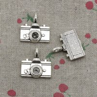30pcs Charms camera 22 * ​​21mm Antique Silver Pendant Jóia de liga de zinco DIY Hand Made Bracelet Necklace Fitting