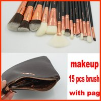 Wholesale Browning Wood - ZOV Makeup Brushes Set 15 pcs face and eyes brushes with pag DHL free shipping