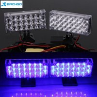 Novo carro 2 x 22 LED Light Blue Set Car Light Lamp Flash 3 modos intermitentes Strobe Emergency Super Bright