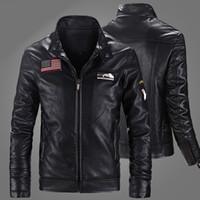 Wholesale Leather Jacket Man Biker - 2016 New Arrival Motocycle PU Leather Jackets Men Moto Biker jacket Hombre Outwear Coats Spring Thin Homme De Couro Coat Plus Size M-4XL