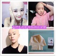 Wholesale Head Monk - New human mask crossdress silicone female unisex head mask halloween cosplay without hair latex bareheaded monk head mask free shipping