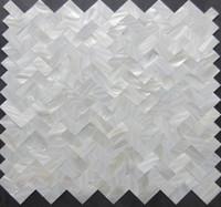 baño de azulejos de mosaico blanco al por mayor-2017 nuevo estilo !!! Azulejos de mosaico en espiga; Azulejos de baño de salpicadero de azulejos de la cocina de nácar blanco; azulejos decoración de la pared
