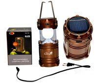 led kamp ışıkları solar şarj cihazı toptan satış-Taşınabilir lanter Solar Charger Kamp Fener Lamba LED Dış Aydınlatma Katlama Camp Çadır Lambası USB Şarj edilebilir fener