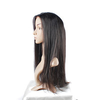 Wholesale Tangle Free Full Lace Wigs - Indian Straight Wig With Baby Hair Full Lace Human Hair Wigs Free Shipping Glueless Uglam No Tangle