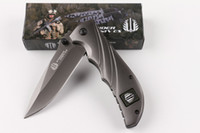Wholesale Titanium Strider Tool - Strider FA22 Titanium Folding Knife 440C 57HRC Fast Open Tactical Hunting Survival Pocket Knife Military Utility Army EDC Tools Gift Box