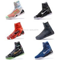Wholesale Kb Christmas Shoes - High Quality Kobe 9 Elite Black Mamba Blackout BHM replicas Christmas Men Basketball Shoes KB 9 IX High Sneakers With Box