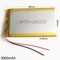 Wholesale Banking Book - Model 605080 3.7V 3000mAh Lithium Polymer LiPo Rechargeable Battery For PAD mobile phone GPS power bank Camera E-books Recoder TV box