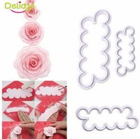 Wholesale Decorating Stocking Flowers - Wholesale,3pcs set Rose Flower Cookie Cutter Fondant Cake Decorating Tools Sugarcraft Biscuit Cutter for Kitchen Baking Tool, Free Shipping.