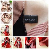 Wholesale Wholesale Designer Silk Scarves Women - 18 styles brand designer 100% silk scarf scarves Fashion luxury brand Grid plaid horse Shawl scarf for women Pure Silk pashmina 180x6 YYA442