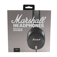 Wholesale wired dj headphones for sale - Marshall Monitor Wired Headphones with Mic Deep Bass DJ Hifi Headset Professional Noise Cancelling Sport Earphone Headband
