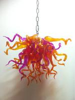 schöne deckenleuchten großhandel-Hohe Decken-rustikale Kristallleuchter-Wechselstrom-120v / 240v-LED-Birnen Fantastic Murano Glass Art Light Beautiful