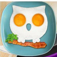 talladora de huevos fritos al por mayor-Herramientas de cocina para fiestas Molde de huevo Herramienta de cocina Búho de silicona Herramientas de huevo frito Moldeador de anillos Novedad Cráneo Divertido Herramienta de huevo frito