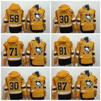 Wholesale orange hooded top online - 2017 Stadium Series Pittsburgh Penguins Hoodies Sidney Crosby Kris Letang Evgeni Malkin Top hooded Sweatshirt