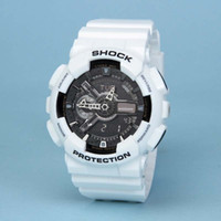 Wholesale Men S Color Watches - Men G Sports Shocking Watches All Function Work Waterproof Led Wristwatch S Shock GA110 Watch More colors choose