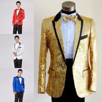 Wholesale Fly Shows - paillette male master Sequins Dresses Stage Costumes Men terno Suit MC Host Clothing Singer Suits & Blazer show jacket outerwear