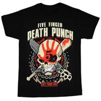 Wholesale white zombie shirt - Fashion t-shirt Five Finger Death Punch Men's Zombie Kill T-Shirt Black man t-shirts
