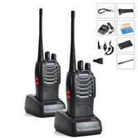 envío walkie al por mayor-Venta al por mayor- 2PCS / LOT Baofeng BF-888S Walkie Talkie 5W de mano Pofung bf 888s UHF 400-470MHz 16CH de dos vías de radio CB portátil Envío gratis