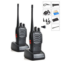 Wholesale Walkie Talkie Radio Baofeng - Wholesale- 2PCS LOT Baofeng BF-888S Walkie Talkie 5W Handheld Pofung bf 888s UHF 400-470MHz 16CH Two-way Portable CB Radio Free shipping