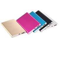 celular fino venda por atacado-Banco de potência ultra fino e fino 8800mah Banco de potência ultra fino para iPhone Xs Max Xr 11 Samsung S10 Note10 bateria de celular