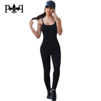 Wholesale Wholesale Womens Club Wear - Wholesale- Sexy Club Jumpsuit Romper Women Fitness Slim Bodysuit Night club Party Wear Overalls Long Sleeve Rompers Womens Bodycon Jumpsuit