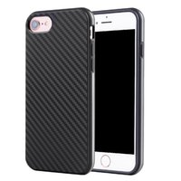 Wholesale Carbon Pouch - For iphone 7 TPU Fiber Carbon Phone Case Gel Soft Silicone Cover for iphone6 6 Plus 6S 5 SE