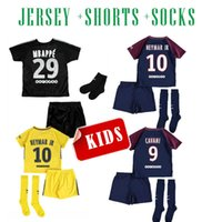 Wholesale Shirt Boy Yellow - 2017 psg NEYMAR JR KIDS THIRD BLACK soccer jersey MBAPPE survetement verratti cavani di maria yellow 17 18 maillot de foot FOOTBALL SHIRTS
