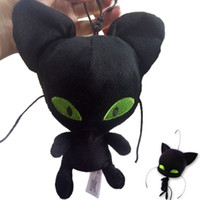 Wholesale Plush Doll Cat - New 10pcs 15cm Miraculous Ladybug Plagg Plush Keychain Toys Cat Noir Lady Bug Adrien Marinette Tikki Kids Plush Dolls
