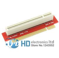 Wholesale 1u Chassis - PCI Male to Female 32Bit Riser Extension Card Adapter 1U 2U 3U IPC Chassis 90 Degree Left Angled Type